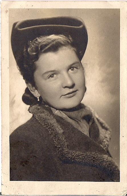 Marta Pilśniak. Zdjęcie z 1948 r.
