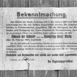 Polen, Bekanntmachung über Abbruch von Gebäuden