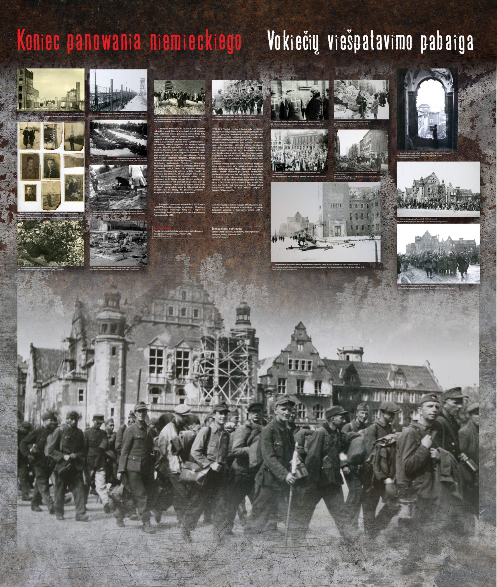 Koniec panowania niemieckiego / Vokiečių viešpatavimo pabaiga