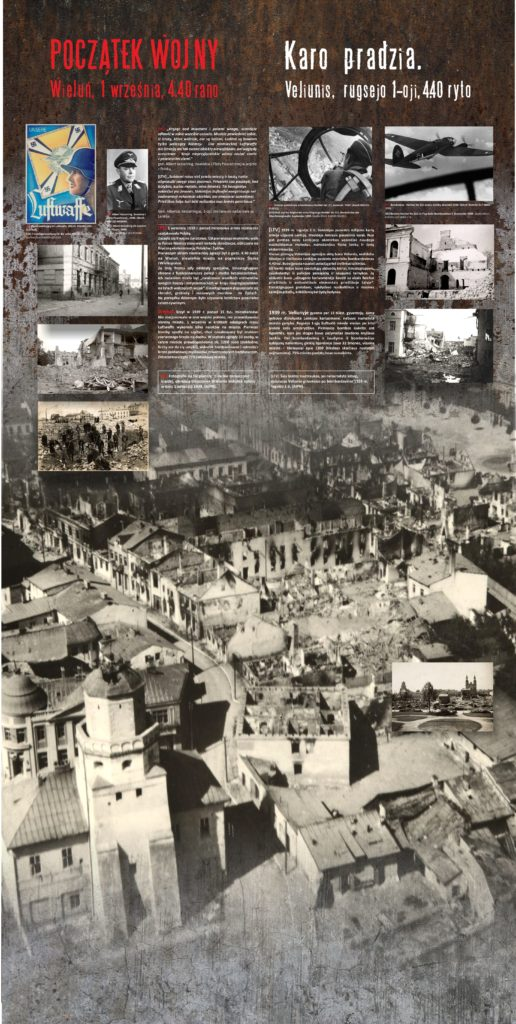 Początek Wojny, Wieluń / Karo pradžia. Veliunis, rugsėjo 1-oji, 4.40 ryto